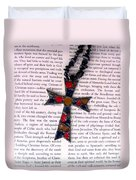 Christian  Cross Duvet Cover by Cynthia Amaral