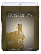 Christmas Card Washington Duvet Cover