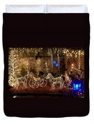 Christmas Carriages Duvet Cover by DigiArt Diaries by Vicky B Fuller