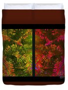 Christmas Fern Diptych Duvet Cover by Judi Bagwell