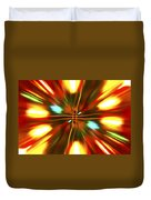 Christmas Light Abstract Duvet Cover