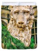Christmas Lion At Biltmore Duvet Cover