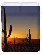 Christmas Morning In Arizona  Duvet Cover