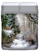 Christmas On The Chase Duvet Cover