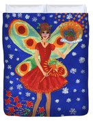 Christmas Pudding Fairy Duvet Cover