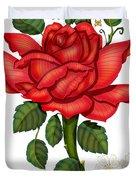 Christmas Rose 2011 Duvet Cover