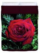 Christmas Rose Duvet Cover by Mariola Bitner