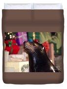 Christmas Sea Lion Duvet Cover