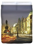 Christmas Traffic On Oconnell Street Duvet Cover