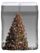 Christmas Tree At Pier 39 Duvet Cover