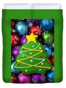 Christmas Tree Cookie With Ornaments Duvet Cover
