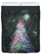 Christmas Tree Moon Duvet Cover