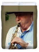 Christopher Mason Alto Sax Player Duvet Cover