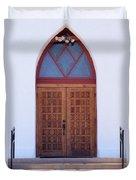 Christ's Red Door Duvet Cover
