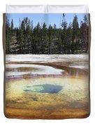 Chromatic Pool Hot Spring, Upper Geyser Duvet Cover