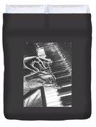 Chrome Piano Man Duvet Cover
