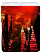 Chrysler Building - New York City Surreal Duvet Cover