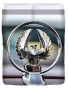 Chrysler Imperial Hood Ornament Duvet Cover