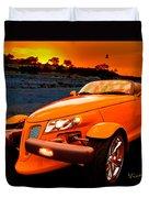 Chrysler Plymouth Prowler Rocky Sunset Duvet Cover