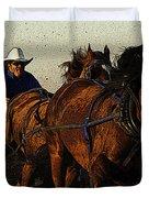 Rodeo Chuckwagon Racer Duvet Cover
