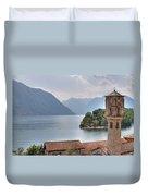 church at the Lake Como Duvet Cover