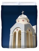 Church Bell Tower Duvet Cover