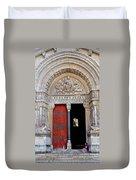 Church Entrance Arles France Duvet Cover