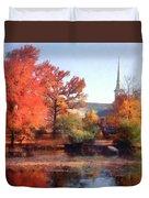 Church In Autumn Duvet Cover