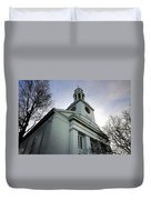 Church In Perspective Duvet Cover
