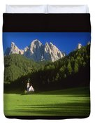 Church In The Countryside Duvet Cover