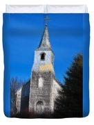 Church Of Days Gone By Duvet Cover