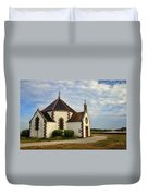 Church Off The Brittany Coast Duvet Cover