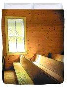 Church Pews - Light Through Window Duvet Cover