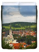 Church Spire In The Old Town Cesky Duvet Cover