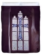 Church Stained Glass Window 2 Duvet Cover