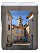 Church Steeple In Provence Duvet Cover