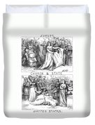 Church/state Cartoon, 1870 Duvet Cover