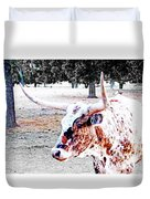 Cibolo Ranch Steer Duvet Cover