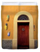 Cicada Door Arles France Duvet Cover