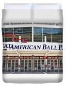 Cincinnati Great American Ball Park Entrance Sign Duvet Cover