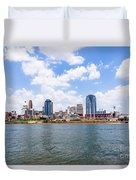 Cincinnati Skyline And Downtown City Buildings Duvet Cover