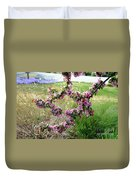 Circle Of Blossoms Duvet Cover