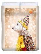 Circus Clown Dog Duvet Cover