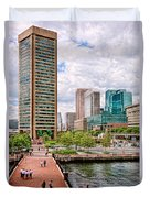City - Baltimore Md - Harbor Place - Baltimore World Trade Center  Duvet Cover