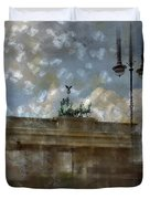 City-art Berlin Brandenburger Tor II Duvet Cover by Melanie Viola