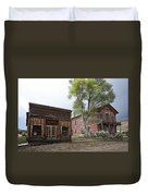 City Drug Store And Hotel Meade - Bannack Montana Ghost Town Duvet Cover