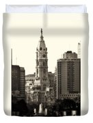 City Hall From The Parkway - Philadelphia Duvet Cover