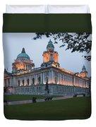 City Hall Illuminated Belfast, County Duvet Cover