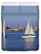 City Harbor Sailing Duvet Cover