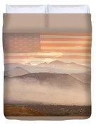 City Of Boulder Colorado Usa Wildfire Season Duvet Cover